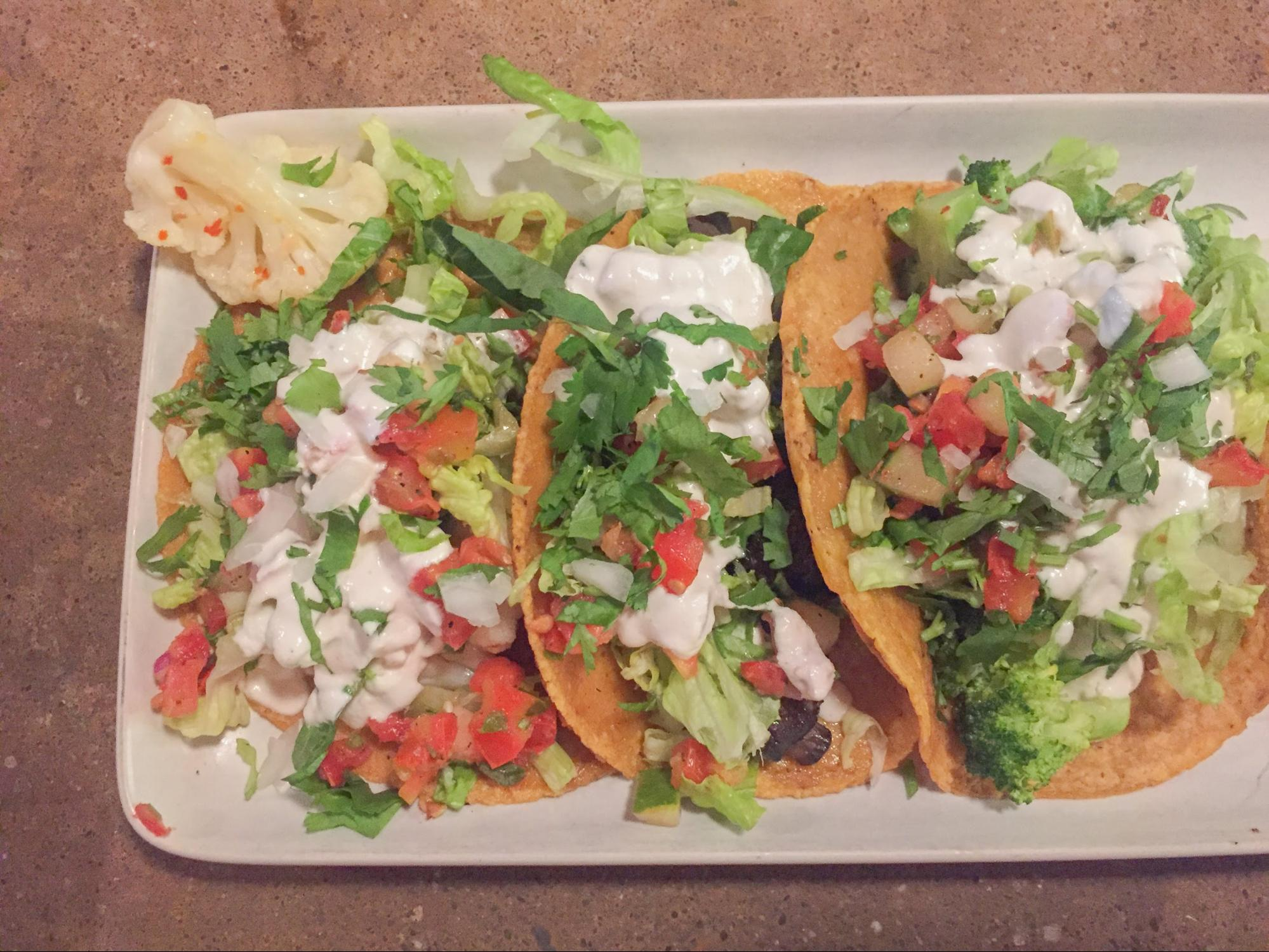 Vegan Tacos with Cashew Crema