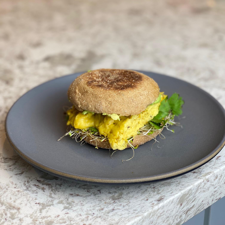 Plant-based breakfast sandwich