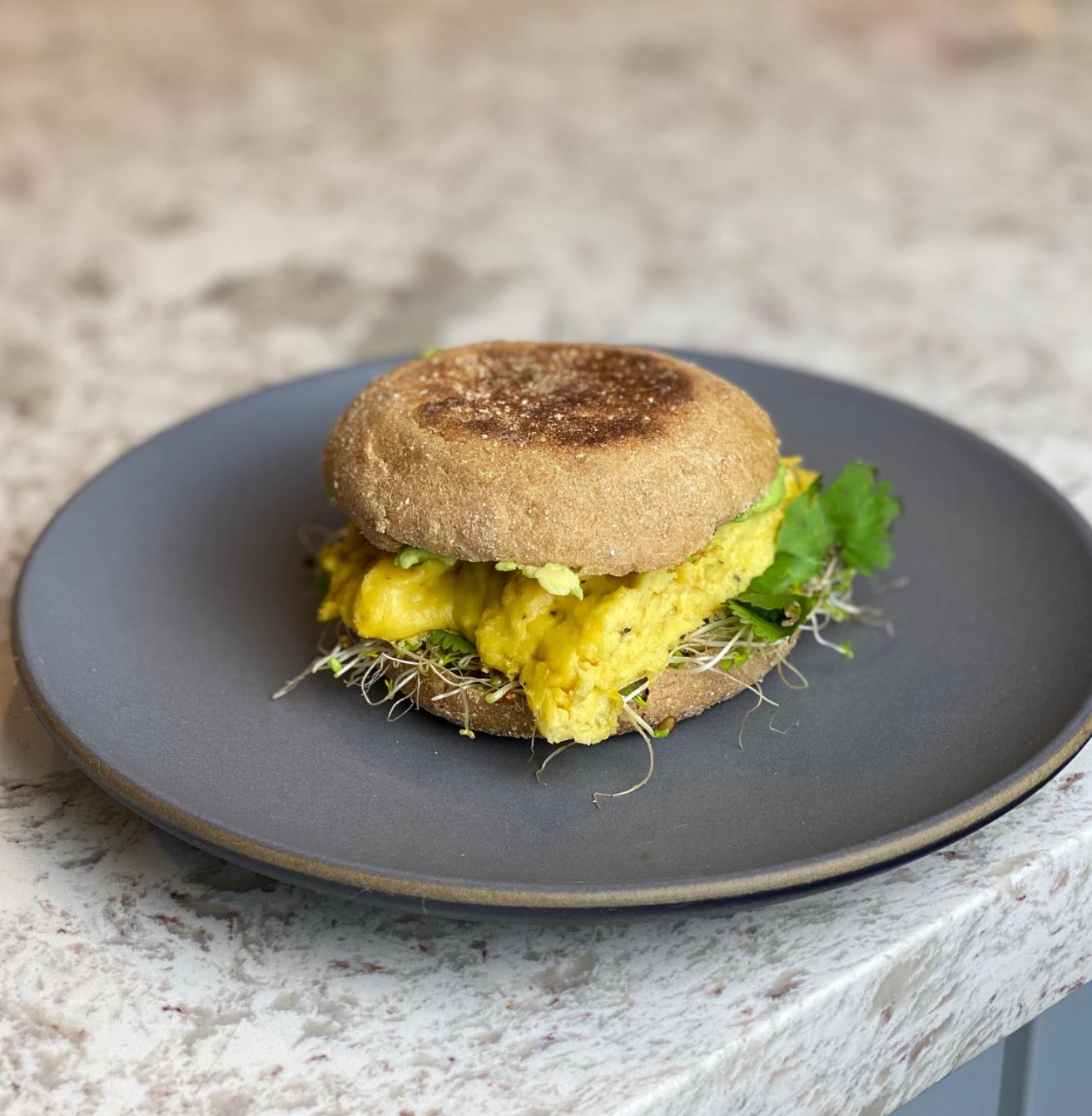 Vegan breakfast sandwich recipe